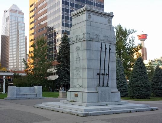Calgary Cenotaph in Central Memorial Park
