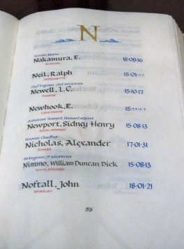 Merchant Navy Book of Remembrance, Peace Tower, Ottawa (p 53)